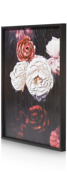 Peinture Antique Rose - 73 X 90 Cm