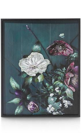 Peinture Avec Metal Bouquet - 73 X 90 Cm