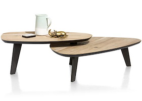Prato, Table Basse - 2 Parties - Environ 115 X 90 Cm & 102 X 61,5 Cm