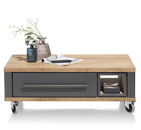 Jardin, Table Basse 100 X 60 Cm + 2-tiroirs + 1-niche