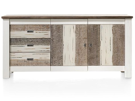 Tibro, buffet 2-portes + 3-tiroirs - 180 cm-1