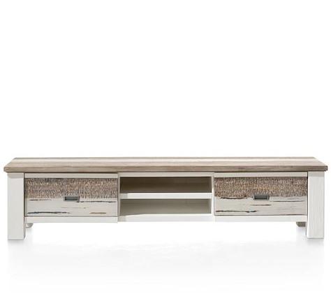 Tibro, meuble tv 1-tiroir + 1-porte rabattante + 2-niches - 175 cm-1