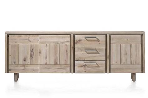 More, buffet 3-portes + 3-tiroirs 240 cm - bois-1