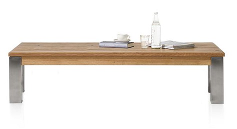 Masters, coffee table 160 x 90 - stainless steel 9x9-1