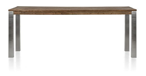 Masters, table de bar 240 x 100 cm - inox 9x9