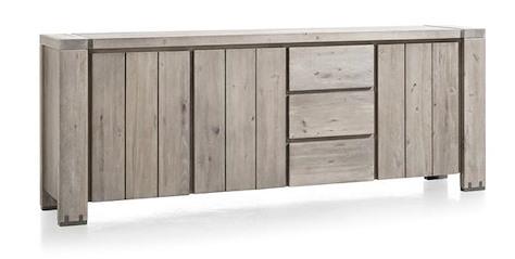 Avola, sideboard 3-doors + 3-drawers - 240 cm-1