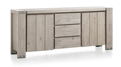 Avola, buffet 2-portes + 3-tiroirs - 190 cm