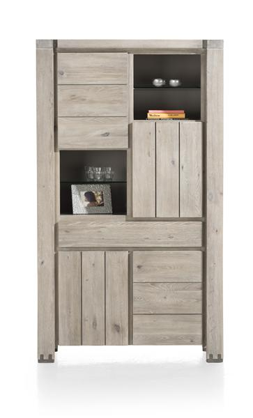 Avola, armoire 4-portes + 1-tiroir + 4-niches-1