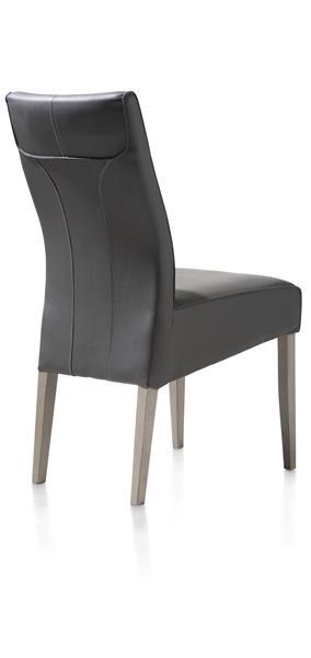 Elke, dining chair beech leg + weathered grey + Moreno-1