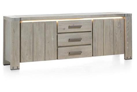 Avola, buffet 2-portes + 3-tiroirs - 220 cm