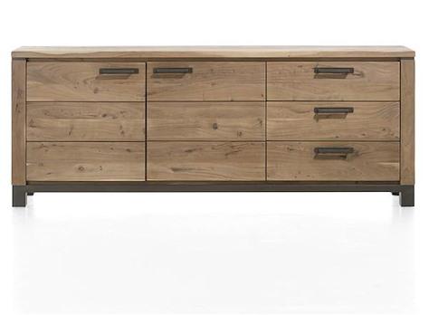 Falster, sideboard 2-doors + 3-drawers 220 cm-1