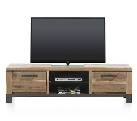 Falster, meuble TV 1-tiroir + 1-porte rabattante + 2-niches 170 cm