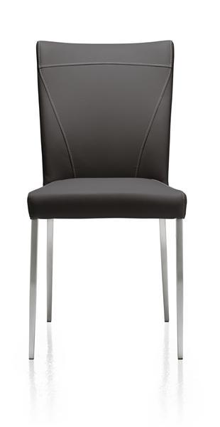 Erikson, chaise inox conique + Moreno-1