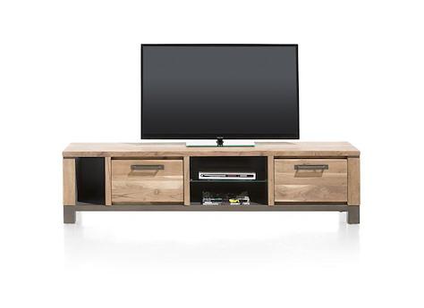 falster meuble tv 1 tiroir 1 porte rabattante 3 niches 190 cm. Black Bedroom Furniture Sets. Home Design Ideas