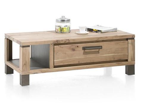 Falster, table basse 120 x 60 cm 1-tiroir + 1-niche