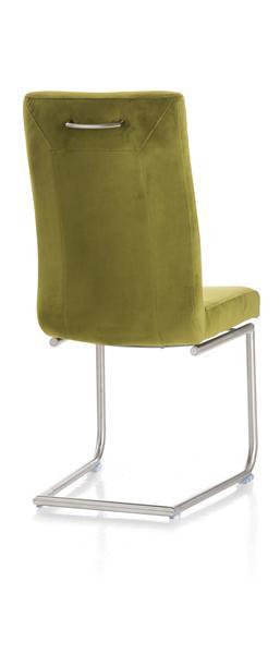 Malene, chaise - pied traineau inox rond avec poignee