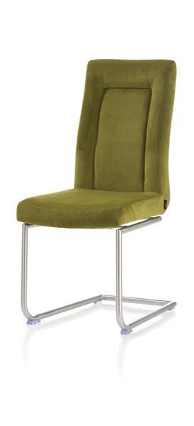 Malene, chaise - inox pied traineau ronde-1