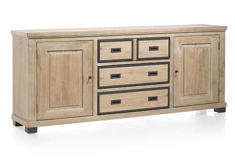 Atelier, sideboard 2-doors + 3-drawers - 220 cm-1