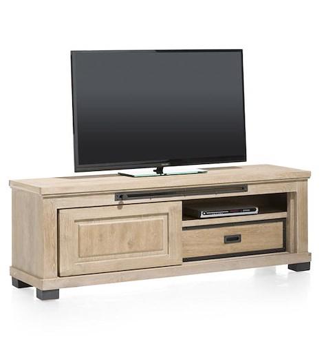 Atelier, meuble tv 1-porte coulissante + 1-tiroir + 1-niche - 160 cm-1