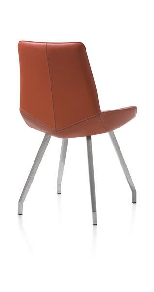 Levi, chaise - 4 pieds inox plie - cuir catania-1