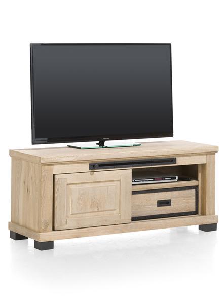 Atelier, meuble tv 1-porte coulissante + 1-tiroir + 1-niche - 130 cm-1