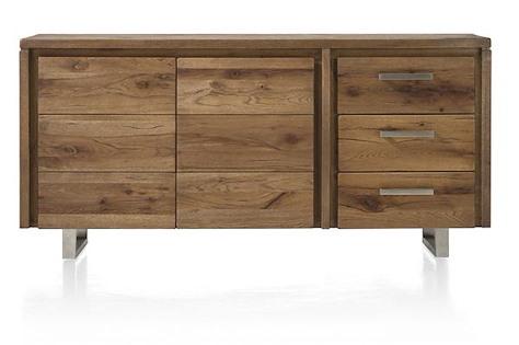 Masters, sideboard 2-doors + 3-drawers 180 cm - stainless steel-1