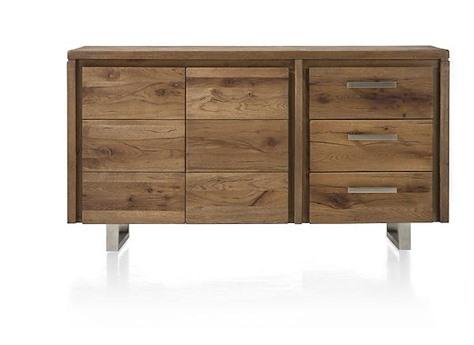 masters buffet 2 portes 3 tiroirs 160 cm inox. Black Bedroom Furniture Sets. Home Design Ideas