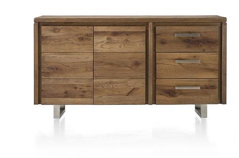 Masters, sideboard 2-doors + 3-drawers 160 cm - stainless steel-1