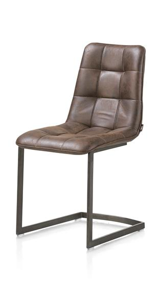 Kate, dining chair - vintage metal + Old English dark brown-1