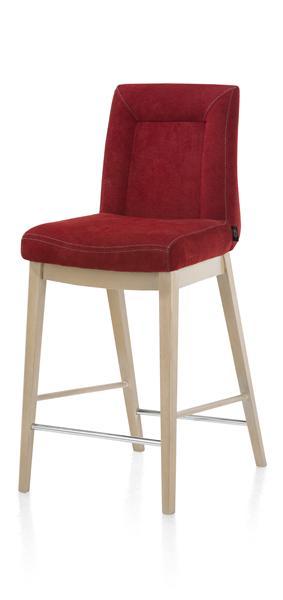 Malene, chaise bar - pieds en bois hetre