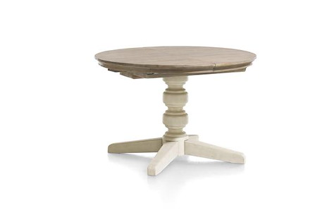 Le Port, table a rallonge rond 120 cm (+ 50 cm)-1