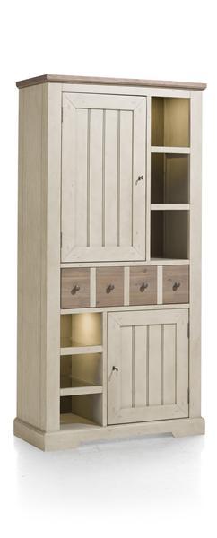 Le Port, armoire 2-portes + 1-tiroir + 6-niches (+ LED) - 100 cm-1