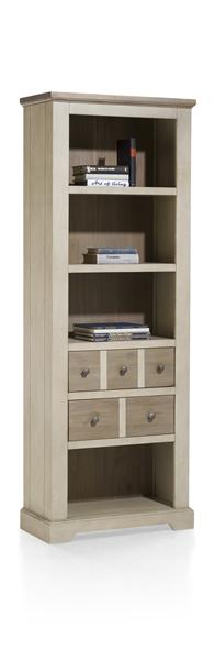 Le Port, bibliotheque 2-tiroirs + 4-niches - 75 cm-1