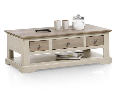 Le Port, table basse 120 x 60 cm + 3-tiroirs t&t + 1-niche-1