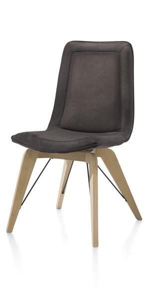 Thora, dining chair - oak design leg unfinished - Talamanca-1