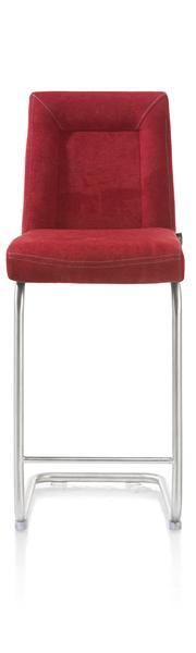 Malene, chaise bar - pied traineau inox rond avec poignee-1
