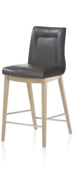 Malvino Bar, chaise bar - pieds en bois hetre