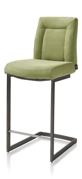 Malene Bar, chaise bar - pied traineau metal vintage carre avec poignee