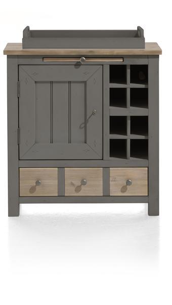 Le Port, armoire 1-porte + 1-tiroir + 1-plateau + 8-niches - 79 cm-1