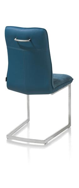Milva, dining chair - stainless steel square frame-1