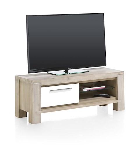 MultiPlus, meuble tv 1-porte rabattante + 2-niches - 120 cm-1