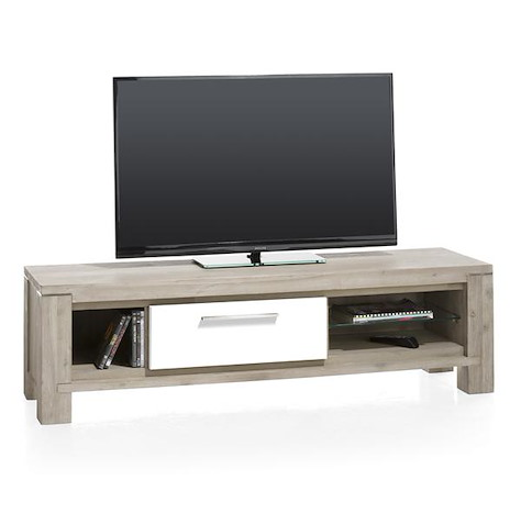 MultiPlus, meuble tv 1-porte rabattante + 3-niches - 150 cm-1