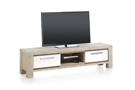 MultiPlus, meuble tv 1-tiroir + 1-porte rabattante + 2-niches - 180 cm-1