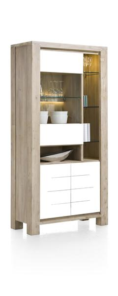 MultiPlus, vitrine 1-porte en verre + 2-portes + 5-niches (+ LED)-1