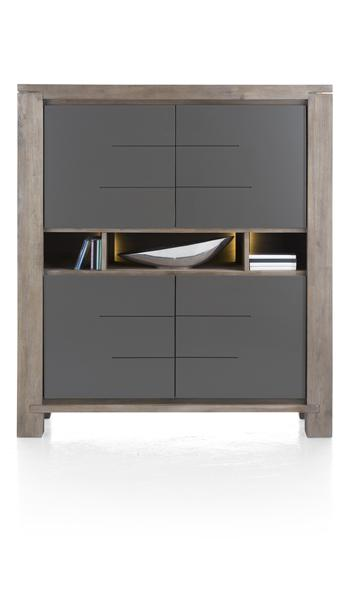MultiPlus, highboard 4-portes + 3-niches (+ LED)-1