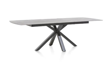 Multiplus, table a rallonge 200 (+ 60) x 100 cm - stone glass-1