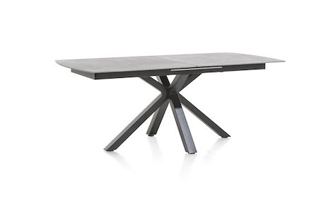 Multiplus, table a rallonge 200 (+ 60) x 100 cm - stone glass