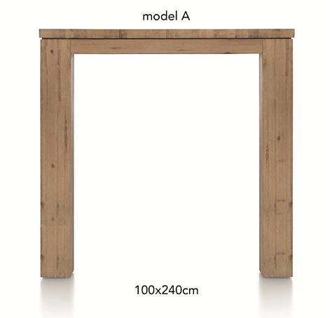 A La Carte, table de bar 240 x 100 cm - AAD-1