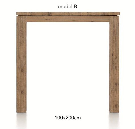 A La Carte, table de bar 200 x 100 cm - BEN-1