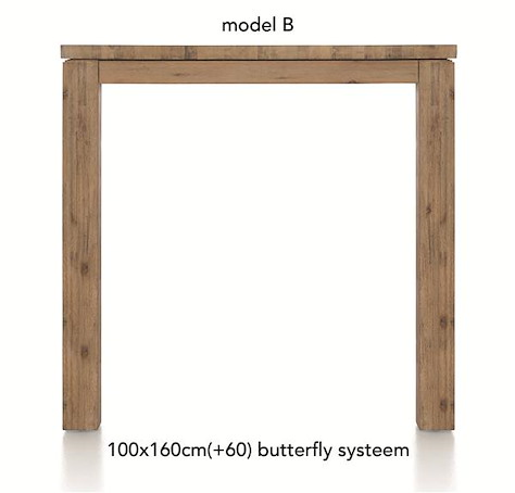 A La Carte, table de bar a rallonge 160 (+ 60) x 100 cm - BEN-1